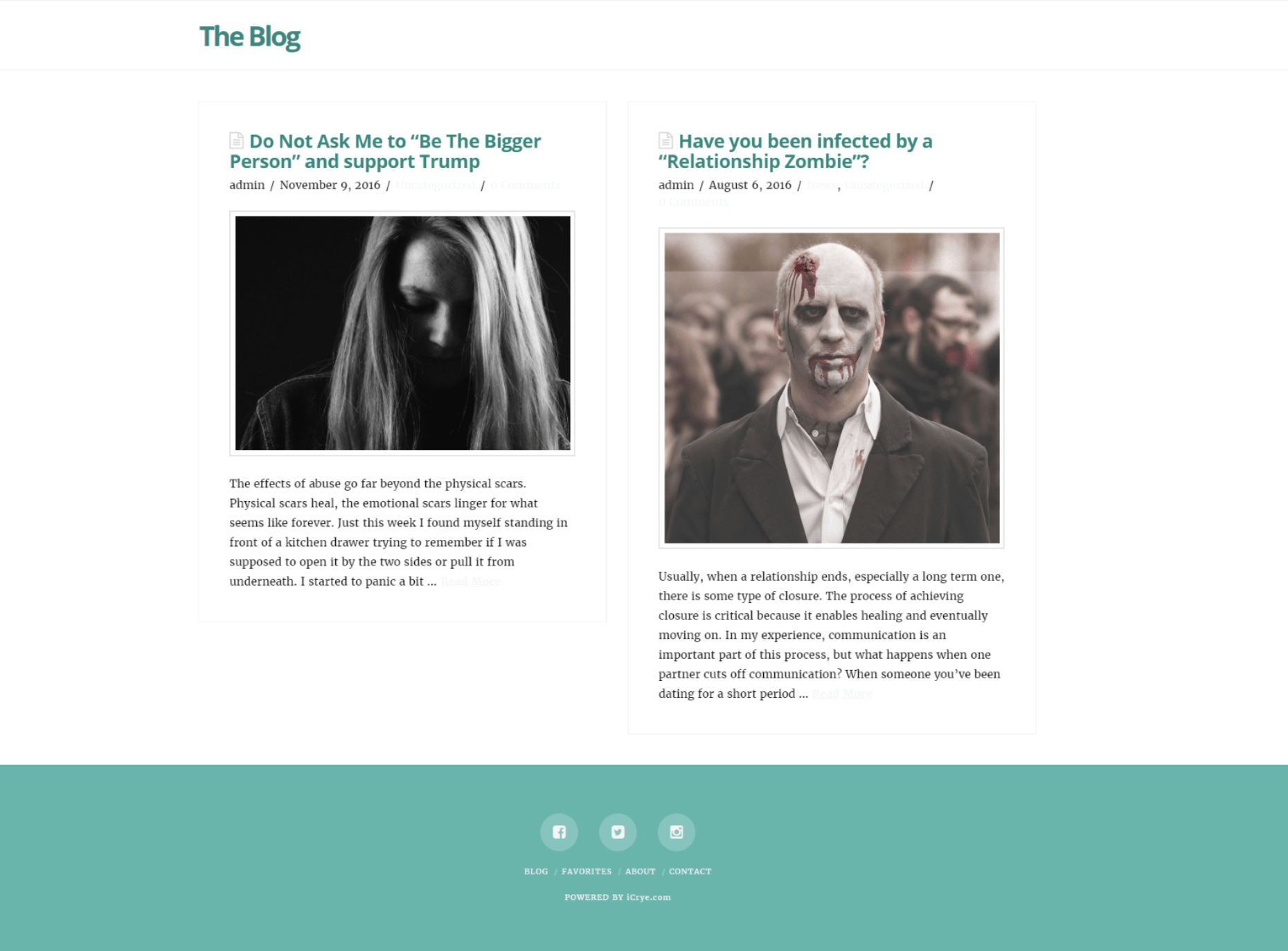 Blog Website Design