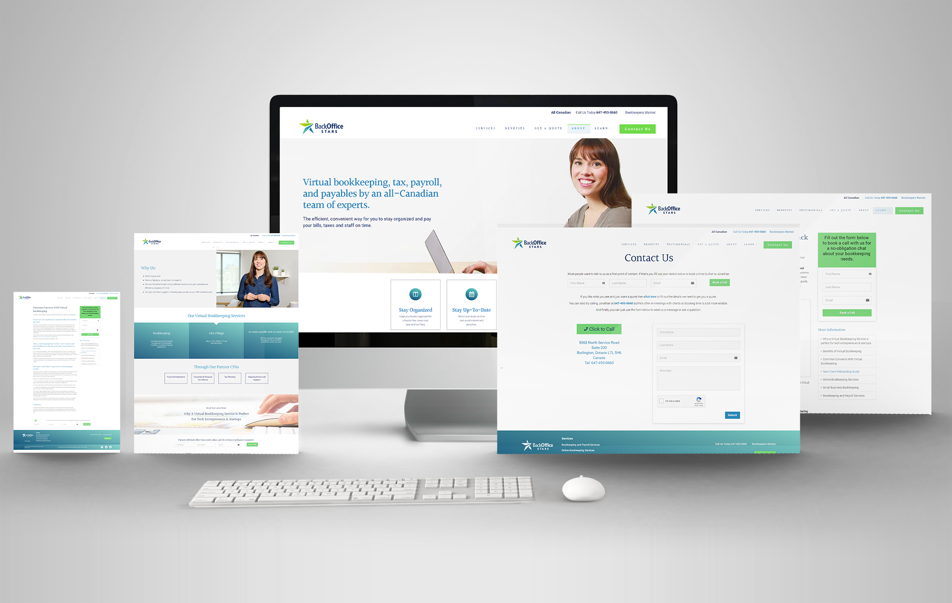Responsive Website Design Accountant