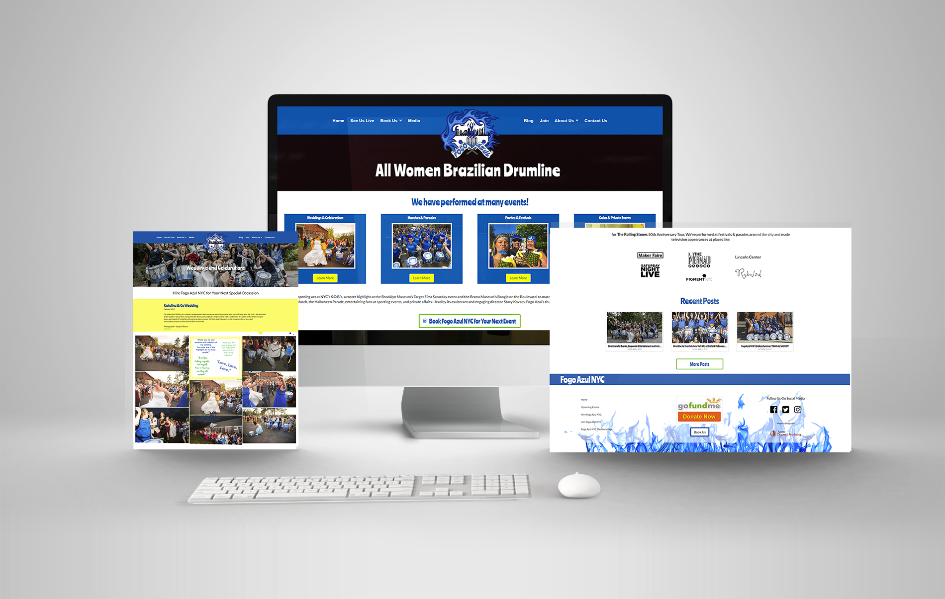 Events company website redesign and seo