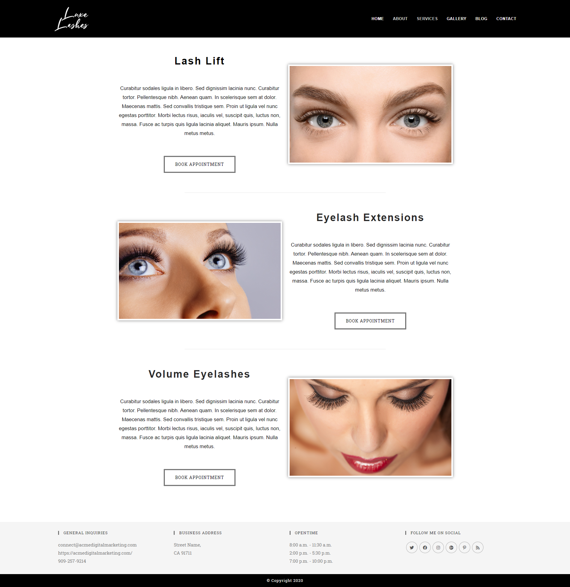 Eyelash Extensions Services – Luxe Lashes