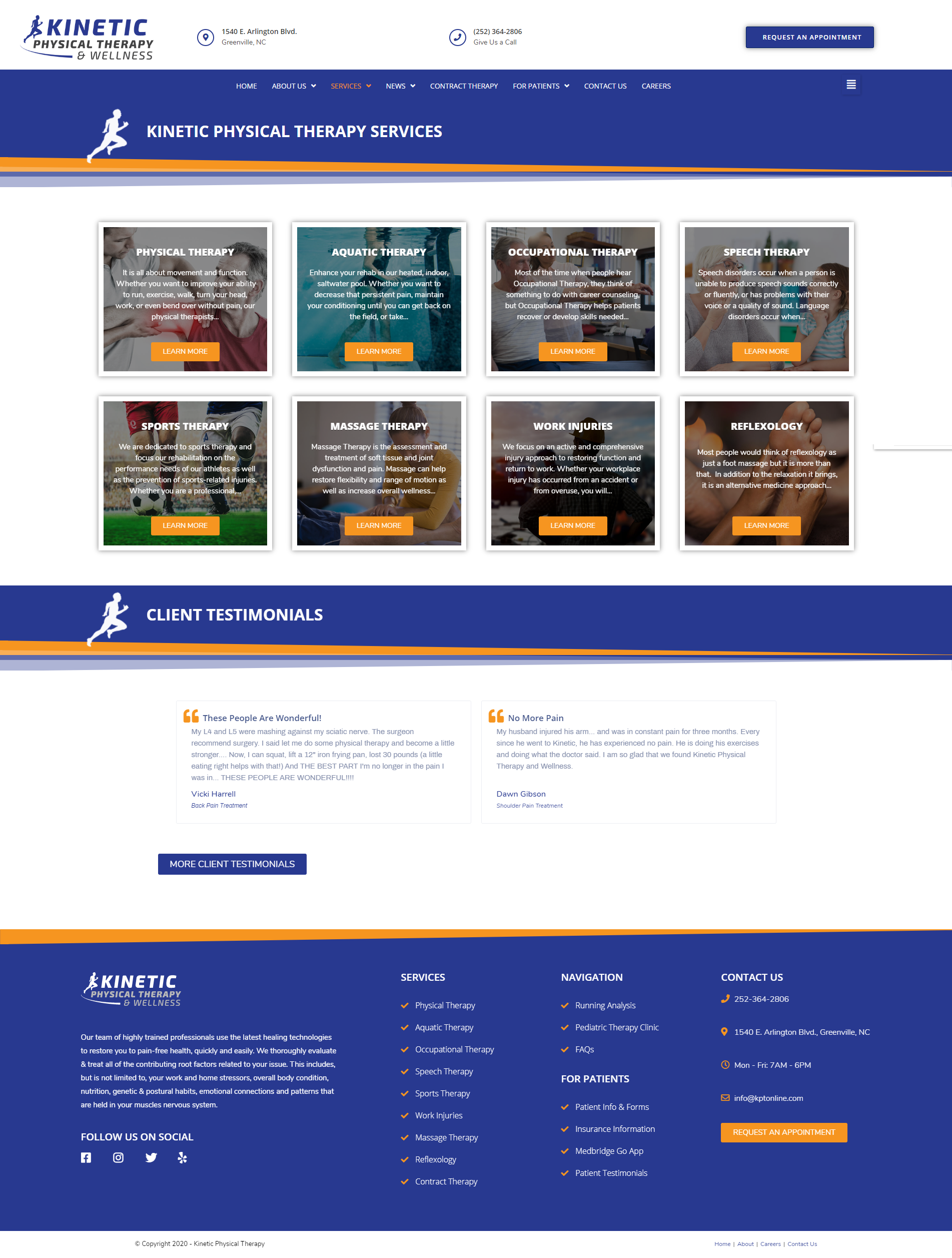 physical therapy website redesign and seo