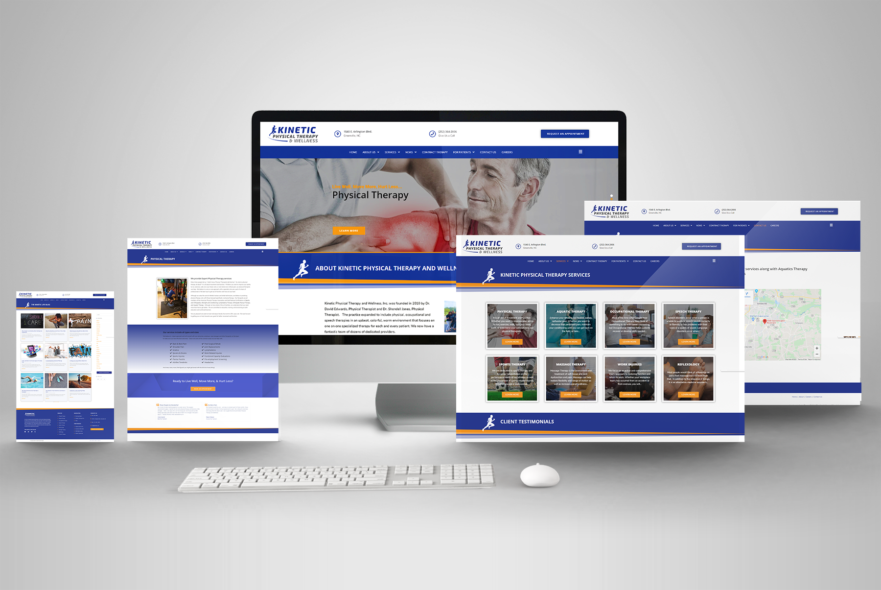 physical therapist website redesign and seo