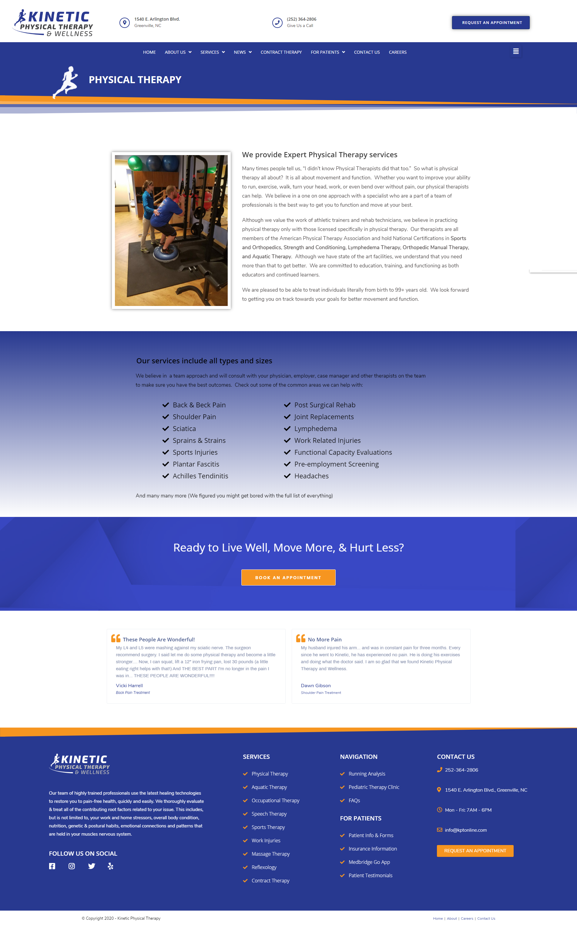 physical therapist web design