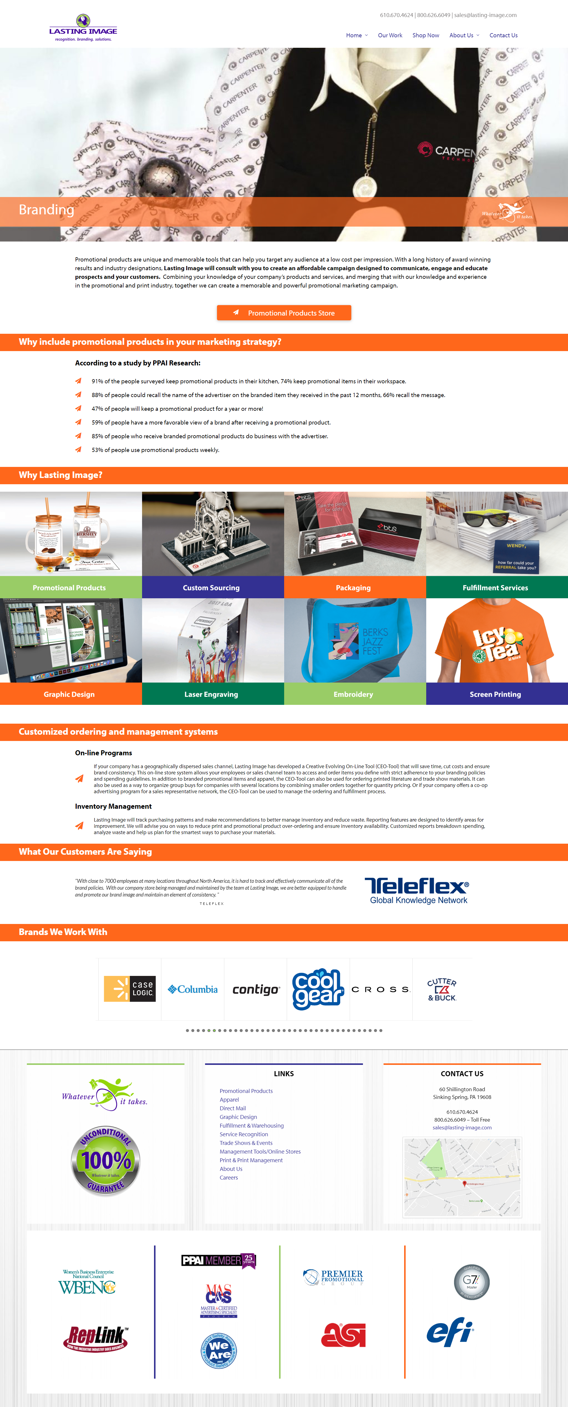 Promotional Products web design 1