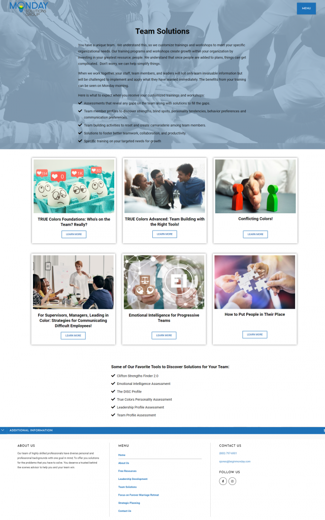 Consultant Website Redesign 2
