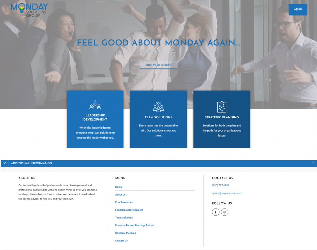 Consultant Website Redesign 1