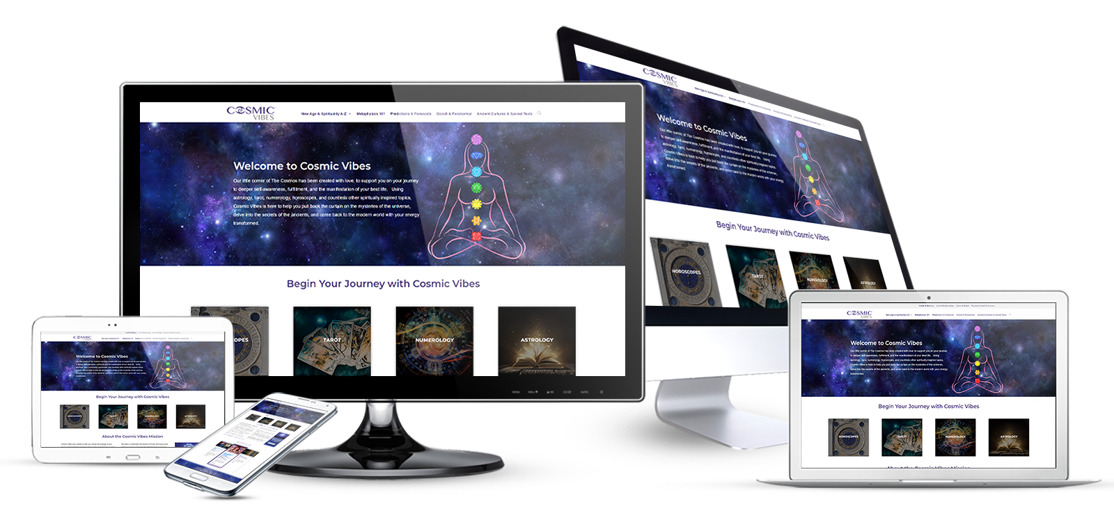 cosmic blog website design