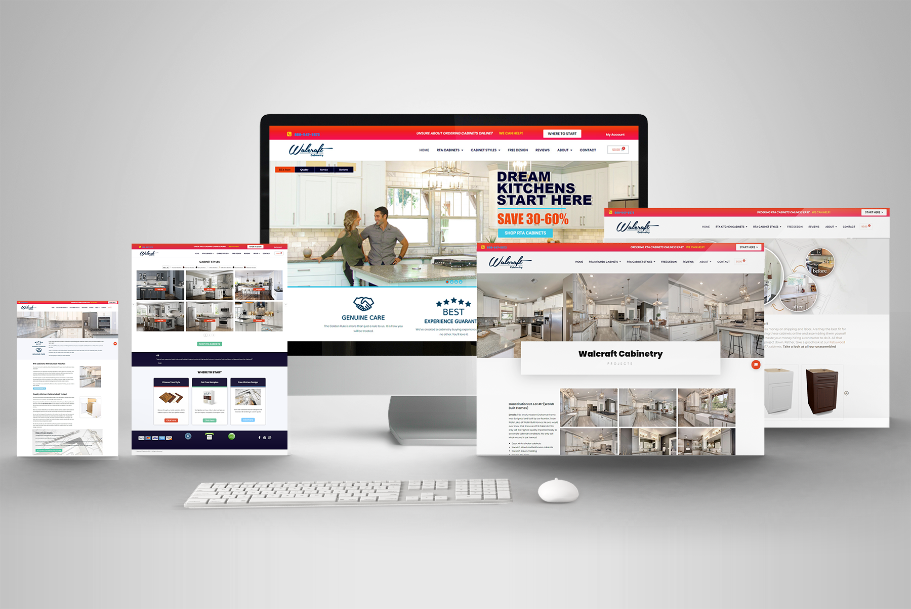 Responsive Website Design Construction Remodel