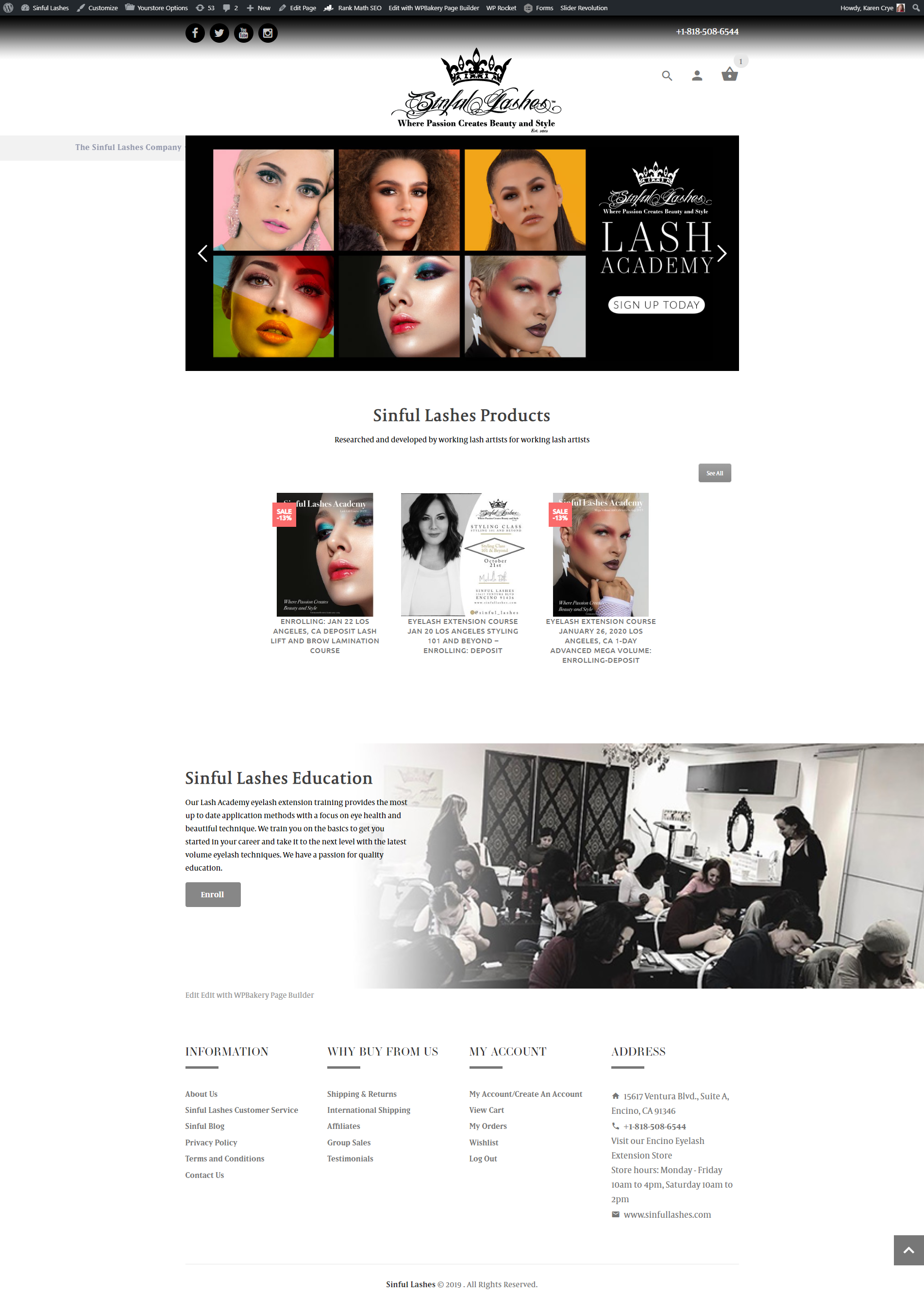 ecommerce web design lash extensions