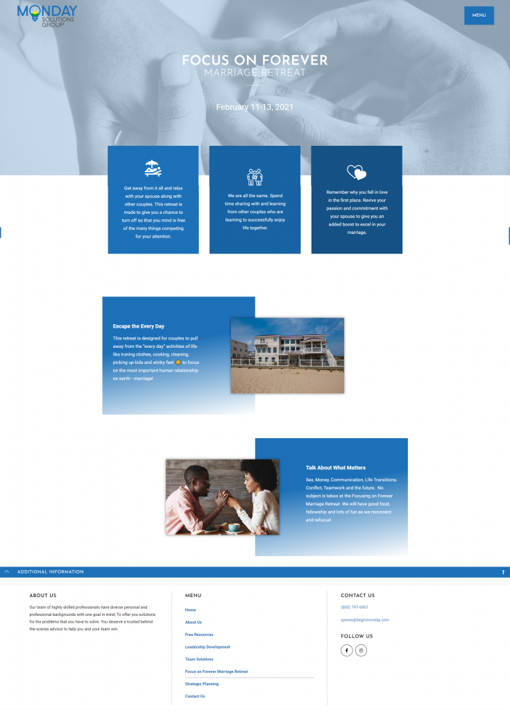 Consultant Website Redesign 3