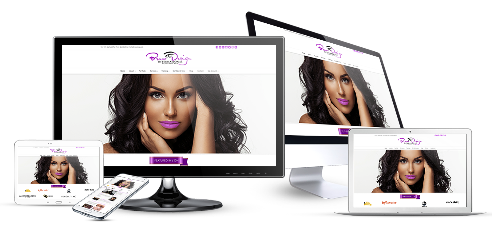 health and beauty ecommerce website design