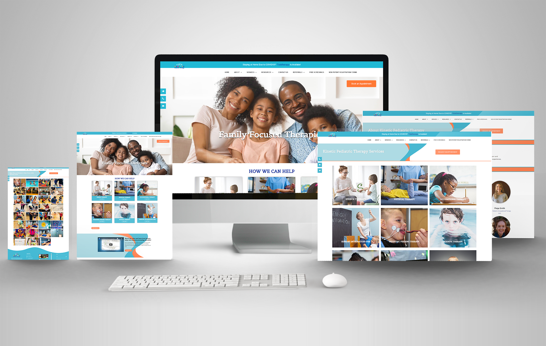 KPT Kids Multi Device mockup for portfolio