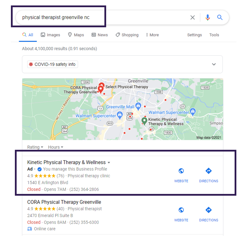 Local SEO Case study Google Maps 1