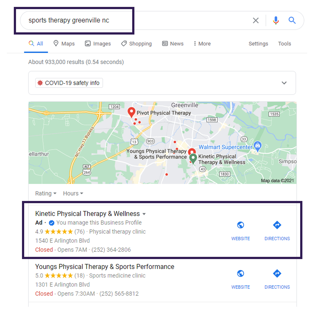 Local SEO Case study Google Maps 4