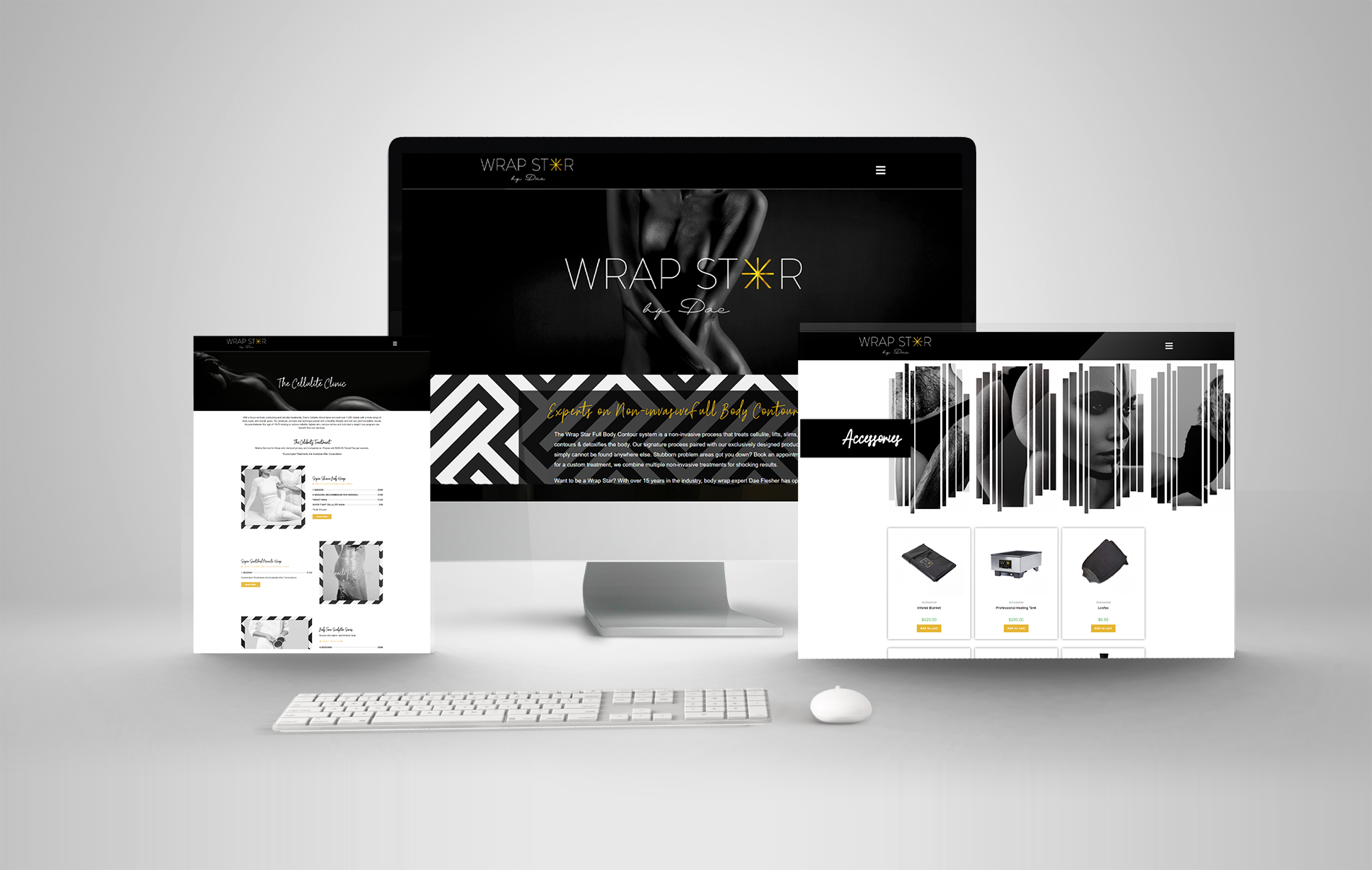 Wrap Star by Dae multi device mockup portfolio